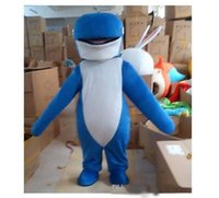 Wholesale 2014 New Arrival Hot Custom made Professional Whale Mascot Costume Fancy Dress Adult Size