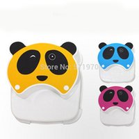 Wholesale three color panda cartoon eco friendly plastic children stool baby double layers stool kids stepping small chairs
