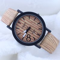 wood watch - Simulation Wooden Relojes Quartz Unisex Watches Casual Wooden Color Leather Strap Watch Wood Male Wristwatch newest