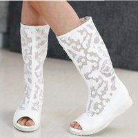 Wholesale Spring and Summer New Girl Children s Lace Boots Single Student Casual Boots Children New Fish Head Boots Kids New Boots