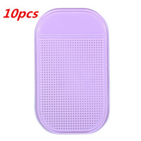 Wholesale 10pcs Small size Powerful Silica Gel Magic Sticky Semi Transparent Anti Non slip Anti shake Glass Dash Car Mat Pad Cusion order lt no tr