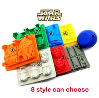 Wholesale Star Wars Ice Tray Design Silicone Mold Ice Cube Tray Chocolate Fondant Mold Death Star X Wing Funny Candy Bake Maker