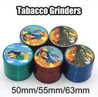 Bob Marley Molinillos Tabacco Grinder mejor calidad 4 piezas de metal Molinillos El más nuevo diseño de 50 mm 55 mm 63 mm Diámetro VS sharpstone Molinillos