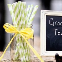 paper straws - 25PCS Mixed Colors Perfect Stripe Paper Drinking Straw Home Bar Sucker For Wedding Party ZZM