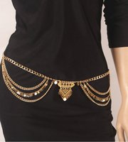 belly chains jewelry - Body Chain Jewelry Fashion Women Vintage Summer Gold Silver Plated Sequins Tassel Multilayer Chains Belly Chain BC076