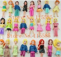 Wholesale Hot Sale set Cute Polly Pockets Girl Doll Figures For Best Gifts