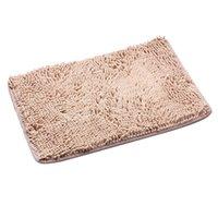 beige shaggy rugs - Bathroom Floor Mats Shaggy Rugs Doormat Anti skid Thick Shag Pile Beige K5BO