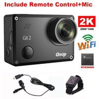 Wholesale Gitup Git2 Novatek P WiFi K Outdoor Sports Action Camera Mic Remote Control