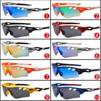 Cheap New Arrival Hot Sale Factory Price 10 colors big sunglasses sports cycling sunglasses 9181 fashion colour mirror Brand Sunglasses men