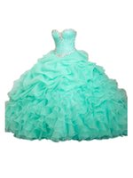 quinceanera dress - Quinceanera Dresses Ball Gowns Sweet dress In Stock Beading Sleeveless Sweetheart Tiered Floor Length Formal dress