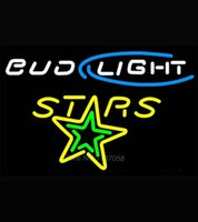 al display - Bud Light Texas Stars Al Beer Light Neon Dallas Cowboys Neon Sign Nbaa Jersey Beer Bar Pub Real Glass Tube Store Display