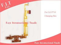 Cheap 20pcs lot Charging Port Connector Flex & Mic & Home Button Menu Key Flex Cable for LG Optimus L7 P710 P712 P713