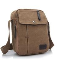 Wholesale Hot sale brand new Mens Vintage Leisure Outdoor Canvas Messenger Crossbody Satchel Shoulder Bag