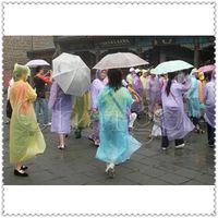 As Pic wholesale rain ponchos - Disposable PE Raincoats Poncho Rainwear Travel Rain Coat Rain Wear Gifts Mixed Colors Via DHL
