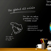Wholesale Adhesive Blackboard Sticker Chalkboard Vinyl Panel Home School Office CM Removable Decal with Free Chalks Memory Aid
