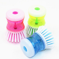 Wholesale Hot Hand Hydraulic Pressure Kitchen Wash Tool Pot Pan Dish Bowl Brush Scrubber Bathroom Cleaning Supplies Random Color JG0034 smileseller