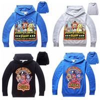 Wholesale Five Nights At Freddy s hoodies for kids Teddy Bear hoodies Outwear Five Nights at Freddys Bear sweatershirts Xmas gift for kids D45