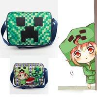 Wholesale Minecraft JJ Travel Shoulder Bags Luminous Handbags Canvas New Fashion Cross boby Messenger bag Children Kids School Bag Backpacks