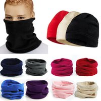 Wholesale Hot Sales Unisex Thermal Warm Fleece Snood Neck Scarfs Warmer Beanie Hat Ski Balaclava Fx273
