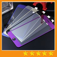 For Apple packing film - Colorful Tempered Glass Screen protector Glass Film Anti Scratch shatterproof For iphone S iphone Plus with retail packing