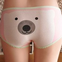 bear panties - Briefs Try Promotions cheap cotton women underwear panties lolita style cute Polar bear for women cartoon girls panties