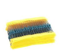 Venta caliente 600 piezas 1 / 4W 1% 20 Clases Cada Kit Valor <b>Metal Film Resistor</b> Surtido set envío libre