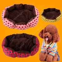 pet bed - 2015 New Unique Pet Puppy dog Cat Soft Pet Bed Warm Bed Dot Pattern Pet Nest SV013346