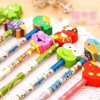 Wholesale 10 Random Cartoon Magic Writing Drawing Pencil w Soft Eraser For Kids Childs