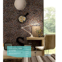 Wholesale CHARMING installation Studyroom wall tiles Crystal mixed stone features walls floors mosaic tiles