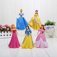 Finished Goods aurora model - Princess Dolls Snow White Belle Cinderella Aurora PVC Action Figure Collectible Model Toys set