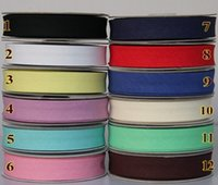 bias ribbon - 20MM Width Double Folded cotton Bias Binding Tape CM After Sewing cm Wide Tapes Ribbon meter NA5213