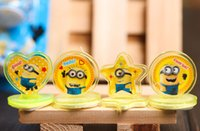 Wholesale 48P sets Cartoon Stamper Despicable me minion action figures Style educational DIY stamp drawing set baby toy study ZJ1003
