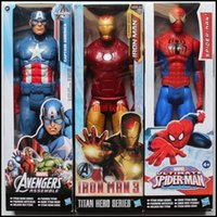wholesale action figures - 2015 The Avengers action figure Marvel spiderman iron man caption america darth vader green goblin kids toys dolls J061702 DHL
