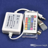 Wholesale 2015 Special Offer Ac v Rgbw Led Wifi New Ac110v Or Ac220v a w High Voltage Led Strip Light Rope Rgb Controller with Keys Remote