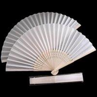 Wholesale new nice wedding gift white silk fansilk folding fan