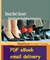 banking guides - Beat The Street Investment Banking Interviews nd Edition WetFeet Insider Guide