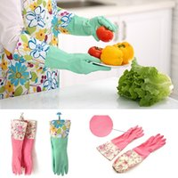 Wholesale Long Latex Dishwashing Gloves for Kitchen Long Gloves Dish Washing Cleaning Tool Y57