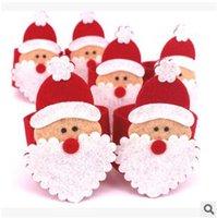 Wholesale 5000pcs LJJC2771 Novelty Christmas Santa Claus Napkin Ring Table Decor Napkin Holder Christmas Tablewear Decoration Christmsa Napkin Ring