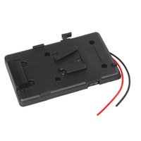 v mount battery - High quality Battery Back Pack Plate Adapter for Sony V shoe V Mount V Lock Battery External for DSLR Camcorder Video Light order lt no trac