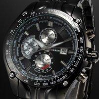 auto forms - CURREN men s fashion men s brand military form steel strap sports watches luxury watches men quartz clock Relogio CUR8083