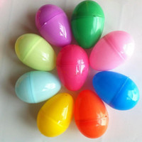 Wholesale colorful plastic Easter eggs Eco friendly plastic buckle eggs x4cm size puzzle eggs baby kids gift Easter day DIY decoration