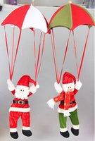 Wholesale New Christmas ornament Santa Claus and snowman with parachute Christmas Decoration