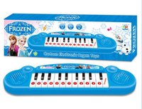 Wholesale Frozen Girl Cartoon Electronic Organ Toy Keyboard Electronic Baby Piano With Music Song Musical Instruments Toy For Kids DHL Free