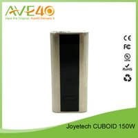 Wholesale Authentic Joyetech CUBOID W Temperature Control Box Mod VS Wismec Noisy Cricket Box Mod Fit Wismec Amor mL DHL