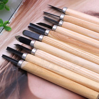 Wholesale 10pcs Set Hand Wood Carving Chisels Knife For Basic Woodcut Working DIY Tools