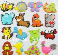 bee magnet - by FEDEX Custom cartoon soft PVC fridge magnet for kids bee cock horse crab bird puppy