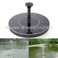 Wholesale 7V Floating Water Pump Solar Panel Garden Plants Watering Power Fountain Pool order lt no track