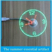 DHL de envío libre del USB LED Ventilador USB ventiladores LED reloj de tiempo muy pequeño ventilador libremente ajustar el ventilador de techo solar del ventilador nueva lista