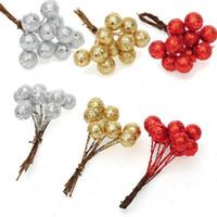 artifical fruits - Christmas Tree Artifical Shiny Foam Small Ball Fruit Ornaments DIY Decor