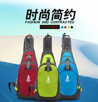Wholesale FreeShipping Men And Women s Nylon Chest Shoulder Bag Chest pocket Outdoor Hiking Bicycle Backpack Multifunctional Bag Black Blue Yellow Red